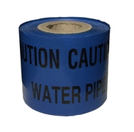 Water Pipe Blue Warning Tape