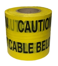 Electric Cable Below Yellow Warning Tape